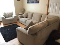 Corner Sofa with matching Armchair for sale