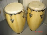 Two high quality used Cconga Drums with stand