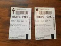 2 x Thorpe Park Tickets (March - Sept 2017)