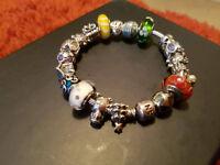 Genuine Pandora 19cm Charm Bracelet with 20 charms