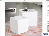 Console table and two cube tables