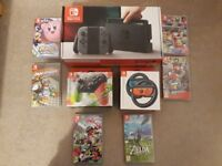 Nintendo Switch + 7 Games + Extras Bundle *Immaculate*