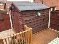 Free Shed if you take down and take it away * The shed is now spoken for, Thanks Chris *