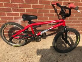 Kids BMX with two stunt pegs