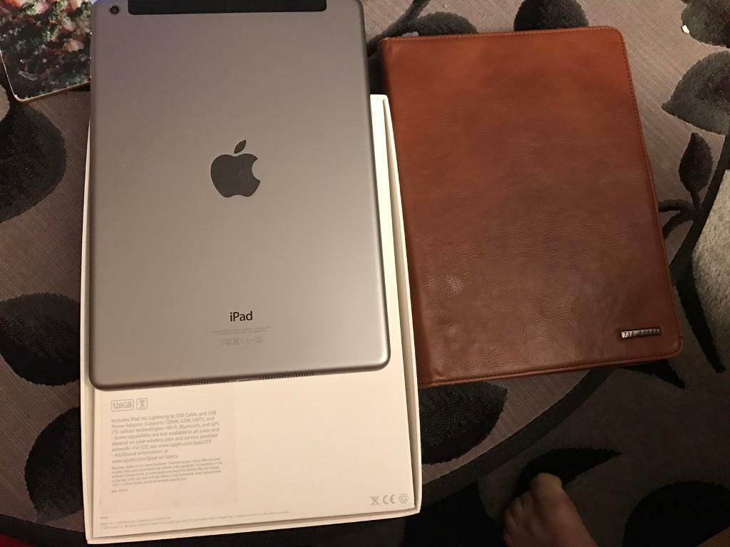 iPad Air 128gb wifi and cellular space grey excellent conditionin Norwich, NorfolkGumtree - Selling iPad Air first gen space grey128gb wifi and cellular full working orderComes with Ted baker brown leather case and box and charger and lead.£300 or nearest offer. Nr10 Horsham st faiths collection