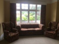 Lovely Chesterfield Sofa and Two Armchairs