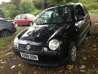 2001 Volkswagen Lupo 1.0 E 3dr black AUC ESY L041 BREAKING FOR SPARES