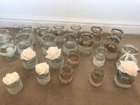 Wedding table decorations glass jars