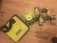Ryobi one plus twin drill pack swap for iPhone