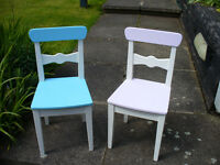 2 CHILDRENS WOODEN CHAIRS