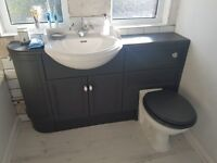 Heritage counter top or wall hung ceramic basin with mixer tap