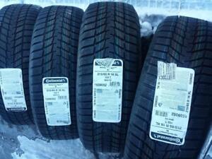 BRAND NEW ULTRA HIGH PERFORMANCE 215 / 65 / 16 CONTINENTAL WINTER TIRE SET OF FOUR