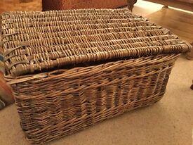 Large vintage wicker laundry hamper great toy basket