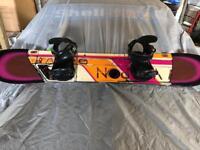 K2 WWW park / free ride 2015 snowboard + K2 bindings