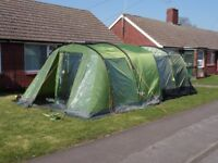 KAMPA HAYLING 4 berth tent with Coleman extention