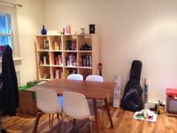 Free table and 6x chairs and bookcase