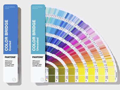 Pantone Color Bridge Gloss Coated Uncoated 2 Book Set. Latest Version. New