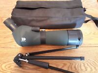Hanoptik 20- 60x60mm Spotting scope with tripod and carry case. New used and in new condition.