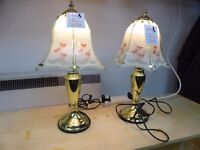 PAIR OF TOUCH LAMPS/LIGHTS (will sell separately)
