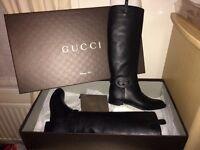 Gucci long flat boots