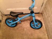 Blue balance bike