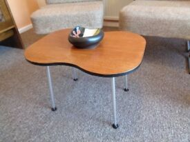 Vintage/Retro Small Kidney Shaped Coffee Table