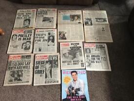 ELVIS PRESLEY COLLECTABLE NEWSPAPERS