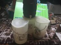 Home brew - 3 x fermenting bins + 1 x barrel + 1 x pressurising bottle