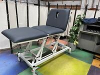 Plinth Electric 3 Section Electric/Physio Beauty Couch/Wide Treatment Couch