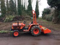 Kubota B2150 24hp compact tractor with new Fleming 5ft link box
