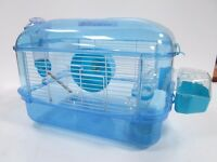 hamster cage blue with sparkle glitter 19.99rrp