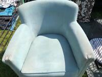 Next light blue armchair