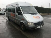 MERCEDES SPRINTER 311 CDI LWB.. 9 SEATER MINI BUS.. With PSV..£1795