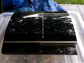 Sony PlayStation 3 (PS3) 80GB Black Console with 2 controller and cables. With 9 games.
