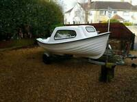 13ft fishing boat with 8hp Johnston outboard engine