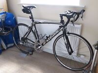Azzurri Uno Carbon frame and all with Shimano at 58cm very good condition foot pump and cleat shoes