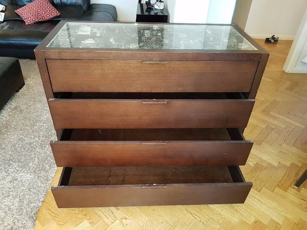 Urgent Chest Of Drawers with Glass Top