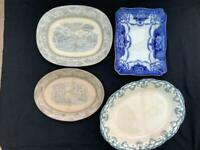 Vintage Meat platters / large plates