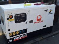 Pramac GSW 20 super silenced generator ( no vat ) low hours