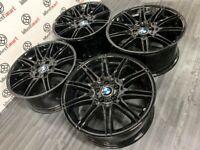 "GENUINE BMW MV4 19"" ALLOY WHEELS - 5 x 120 - SHADOW CHROME FINISH"