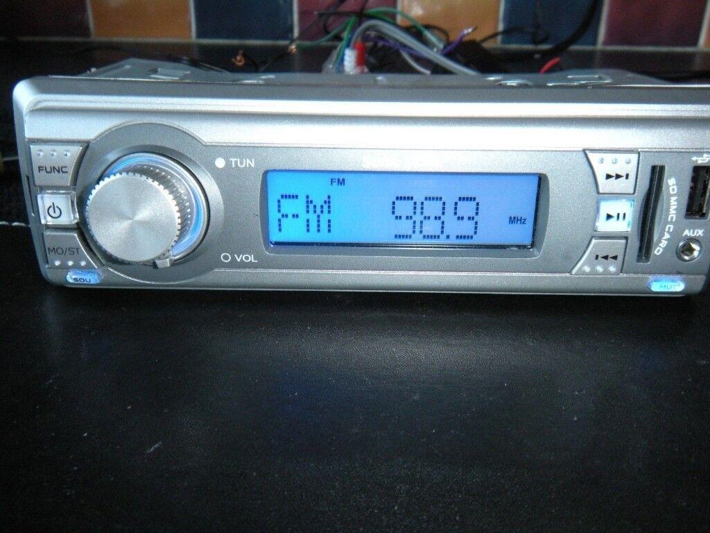 Sonic Line Car Stereo Digital Radio USB SD/MMC memory card, AUX in manual
