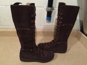 Women's Size 8M Timberland Waterproof Brown Tall Leather Boots
