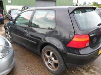 volkswagen golf 1.4 parts from a 2003 car 1.4 petrol 3 door black
