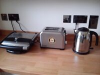 Kettles, toaster and small grill