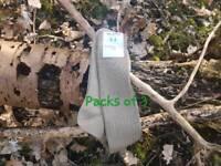Italian Army Long Socks 100% Cotton Lightweight Green Khaki - New - Unissuedx 3