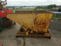Heavy duty forklift tipping skip ideal for farm stables scrap rubbish building site etc