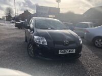 07 TOYOTA AURIS T3 2.0 DIESEL D-4D IN BLACK *PX WELCOME* MOT TILL JUNE 2018 £2295
