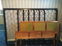 Metal framed double bed