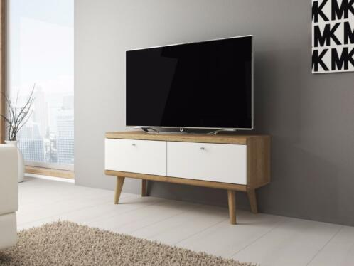 Tv Meubel Primavera 107 Cm Wit Licht Eiken Tv Kast
