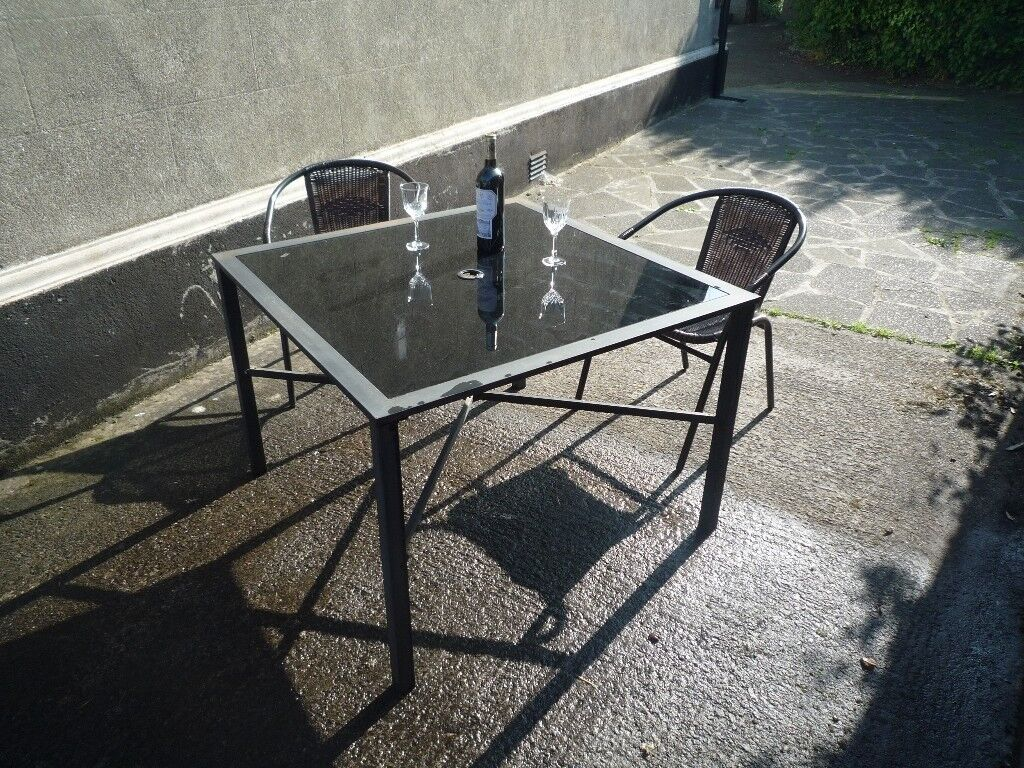 Outdoor table glass table top